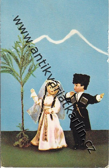 Gruzínské panenky - Dance of Lezghinka (Dolls in Georgian national costumes) (č. 23913)